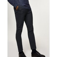Mens Navy Skinny Fit Smart Trousers, Navy