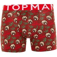 Mens Red Christmas 'It's Kissmas' Trunks*, Red