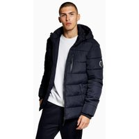 Mens Navy Jog On Lightweight Padded Jacket, Navy