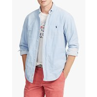 Polo Ralph Lauren Quilted Oxford Shirt Jacket, Basic Blue/White