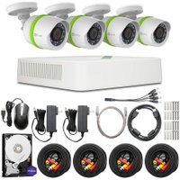 EZVIZ 8-Channel Full HD 1080p Home Security Kit - 4 Cameras, 1 TB DVR
