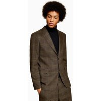 Mens Premium Brown Check Blazer, Brown