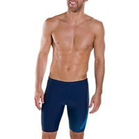 Speedo Gala Logo Jammers Swimming Shorts, Navy/Windsor Blue