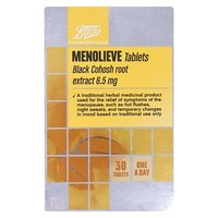 Boots Menolieve Black Cohosh root extract 6.5mg - 30 Tablets
