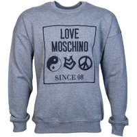 Love Moschino  Sweatshirt Jumper M6506 06 M3857  men's Sweatshirt in Grey