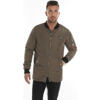 Cipo And Baxx  Long bomber long sleeve  men's Jacket in Green