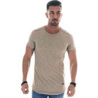 Cipo And Baxx  Short-sleeved round-neck T-shirt  men's T shirt in Beige