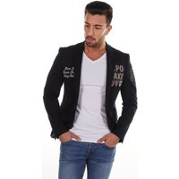 Cipo And Baxx  Blazer with print  men's Jacket in Blue