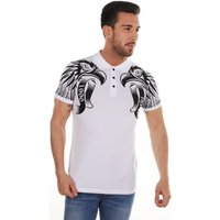 Cipo And Baxx  Polo short sleeve  men's T shirt in White