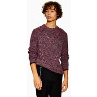 Mens Multi Pink And Black Twist Cable Knitted Jumper, Multi