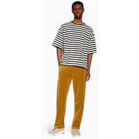 Mens Gold Velour Joggers, GOLD