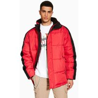 Mens Red Puffer Jacket, Red