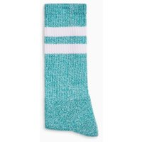 Mens Blue Teal Twist Stripe Tube Socks, Blue