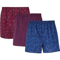 John Lewis & Partners Hummingbird/Check/Floral Boxers, Pack of 3