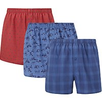 John Lewis & Partners Wild West/Spot/Check Boxers, Pack of 3, Multi