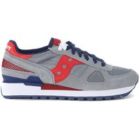 Saucony  Shadow grey and red suede and mesh Sneaker  men's Shoes (Trainers) in Grey
