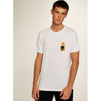 Mens White Element 'Serpent' Short Sleeve T-Shirt*, White