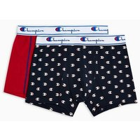Mens Multi Champion Red And Navy Printed Trunks 2 Pack*, Multi