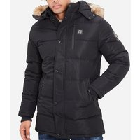 Rg 512  Mid-length parka with hood  men's Parka in Black