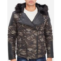Rg 512  Camouflage printed parka  men's Jacket in Green