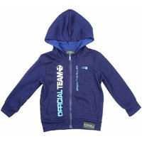 Rg 512  Zipped hoodie  men's Sweatshirt in Blue