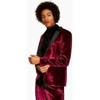 Mens Red Jaded Burgundy Velvet Suit Jacket*, Red