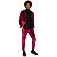 Mens Red Jaded Burgundy Velvet Trousers*, Red