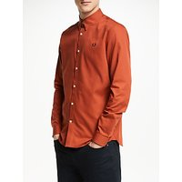 Fred Perry Long Sleeve Button Down Shirt, Paprika