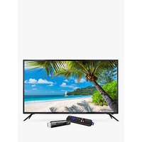 Linsar 55UHD520 LED 4K Ultra HD TV, 55 with Freeview HD & Roku Smart Streaming Stick, Black