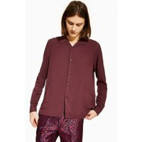 Mens Purple Burgundy Revere Shirt, Purple