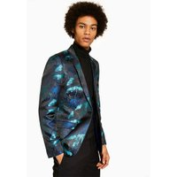 Mens Multi Black Jacquard Skinny Blazer, Multi