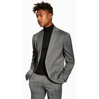 Mens Grey Charcoal Slim Blazer, Grey