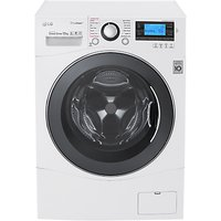 LG FH495BDS2 Freestanding Washing Machine, 12kg Load, A+++ Energy Rating, 1400rpm Spin, White