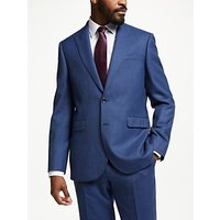 John Lewis & Partners Wool Check Tailored Suit Jacket, Aqua
