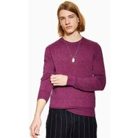 Mens Pink Twist Hem Stitch Jumper, Pink
