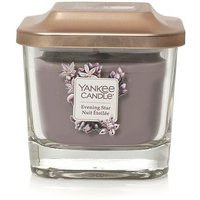 Yankee Candle Elevation Collection With Platform Lid Evening Star Small 1-Wick Square Candle