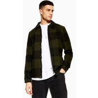 Mens Only & Sons Khaki Jacket With Wool, Khaki