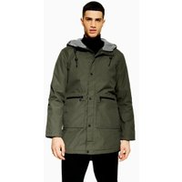 Mens Only & Sons Khaki Parka Jacket, Khaki