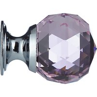 House by John Lewis Mix It Crystal Cupboard Knob, Pink