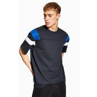 Mens Black Panelled T-Shirt, Black