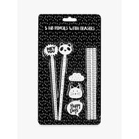 Fourth Wall Brands Pencils & Eraser Toppers, Pack of 5