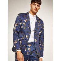 Mens Navy Tulip Skinny Suit Jacket, Navy