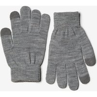Womens **Pieces Grey Gloves- Grey, Grey