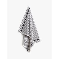 John Lewis & Partners Terry Check Cotton Tea Towel, Black