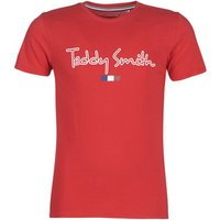 Teddy Smith  TEVEN  men's T shirt in Red