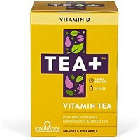 Vitabiotics TEA+ Vitamin Tea Vitamin D - Mango & Pineapple