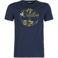 Timberland  SS CARRY  men's T shirt in Blue