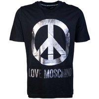 Love Moschino  T Shirt M4732 2Y M3876  men's T shirt in Black