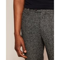 Slim Semi Plain Wool Trousers