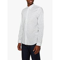 PS Paul Smith Tailored Long Sleeve Floral Shirt, White